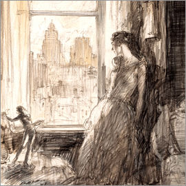 Henri Patrick Raleigh - View from the window