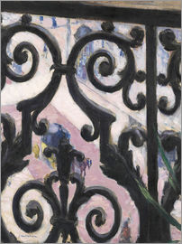 Gustave Caillebotte - View through balcony grill