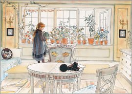 Carl Larsson - Flowers on the Windowsill