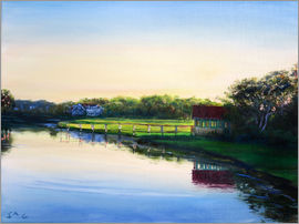 Jonathan Guy-Gladding - boathouse   sunset1