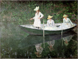 Claude Monet - Boot bei Giverny