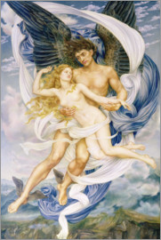 Evelyn De Morgan - Boreas und Oreithyia, 1896