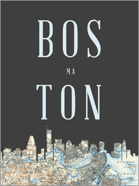 Amelia Gier - Boston Skyline Karte