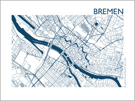 44spaces - BREMEN STADTPLAN indigo