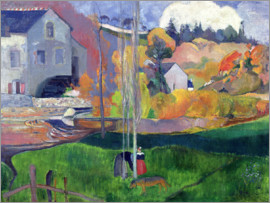 Paul Gauguin - Bretagne-Landschaft: die David-Mühle