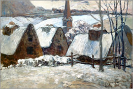 Paul Gauguin - Bretonisches Dorf im Winter