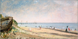 John Constable - Brighton Beach in England