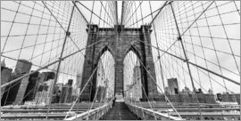 newfrontiers photography - Brooklyn Bridge, New York City (monochrom)