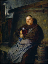 Eduard Grützner - Brother master brewer of beer in the cellar. In 1902.