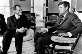 Chancellor Willy Brandt and President John F. Kennedy