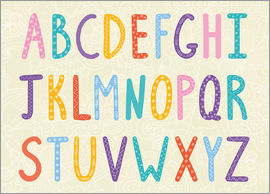 Kidz Collection - Bunte ABC Buchstaben