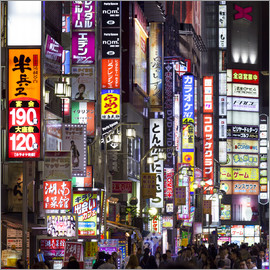 Jan Christopher Becke - Bunte Neonreklame im Stadtteil Shinjuku in Tokio, Japan