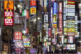 Jan Christopher Becke - Colorful neon signs in Shinjuku district in Tokyo, Japan