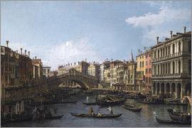 Antonio Canaletto - Grand Canal and the Rialto Bridge