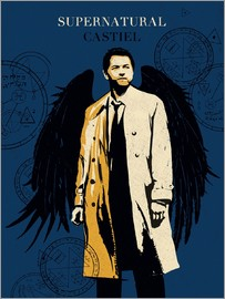 Golden Planet Prints - castiel goldenplanet art
