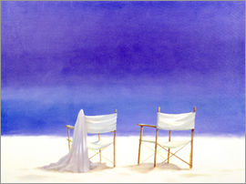Lincoln Seligman - Chairs on the beach, 1995