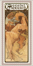 Alfons Mucha - Chocolat Mexicain - Herbst