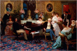 Hendrik Siemiradzki - Chopin Playing the Piano in Prince Radziwill's Salon