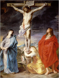 Anthonis van Dyck - Christ on the Cross with the Virgin, St. John and Mary Magd