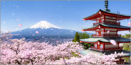 Jan Christopher Becke - Chureito Pagode mit Berg Fuji in Fujiyoshida, Japan