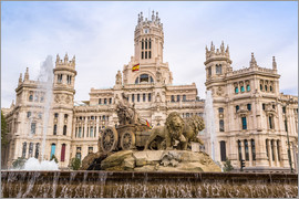 Cibeles-Brunnen bei Plaza de Cibeles in Madrid
