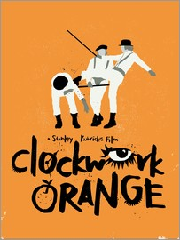 Golden Planet Prints - Clockwork orange movie inspired art