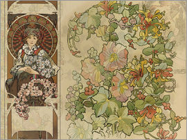 Alfons Mucha - Collage Fleurs