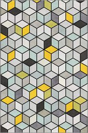 Zoltan Ratko - Colorful Concrete Cubes Yellow Blue Grey