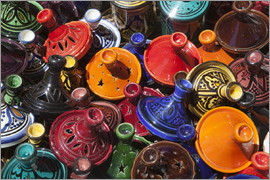 Stuart Black - Colourful tajines, Essaouira, Atlantic coast, Morocco, North Africa, Africa