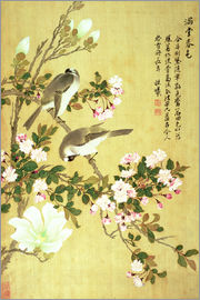Ma Yuanyu - Crabapple, Magnolia and Baitou Birds