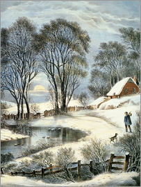 N. & J.M. Currier & Ives - Currier & Ives: Winter Moonlight.
