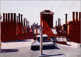 Edward Hopper - Dächer, Washington Square