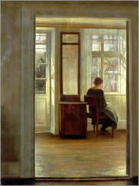 Carl Holsoe - Dame in einem Interieur
