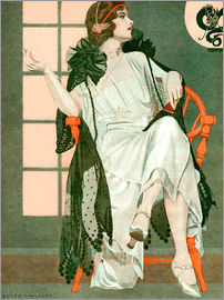 Clarence Coles Phillips - Dame schreibend