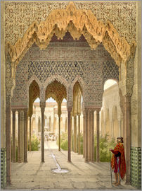 Léon Auguste Asselineau - The Court of the Lions, the Alhambra, Granada, 1853