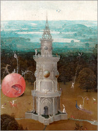 Hieronymus Bosch - The Last Judgement, the earthly paradise (Detail)