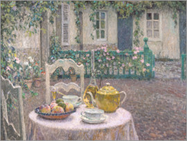 Henri Le Sidaner - The Pink Tablecloth