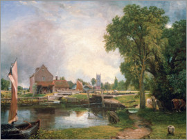 John Constable - Dedham Lock und Mill