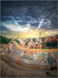 The famous park Guell in Barcelona
