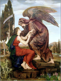 Evelyn De Morgan - Der Engel des Todes, 1890
