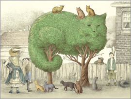 Eric Fan - The Cat Tree Poster Lounge
