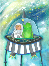 Atelier BuntePunkt - The little astronaut and his friend in the spaceship