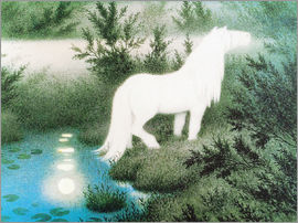 Theodor Kittelsen - The Nix as a white horse
