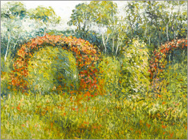 Blanche Hoschede-Monet - The rose garden in Giverny