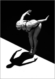 Ben Welsh - A woman jumps into the water I