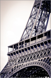 Russ Bishop - Detail of the Eiffel Tower, Paris, France