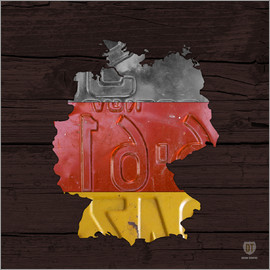 Design Turnpike - Germany Map in License Plates