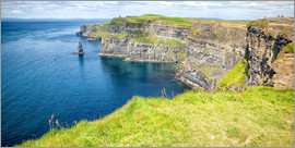 The famous Cliffs of Moher in Ireland