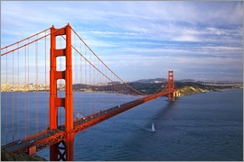 Chuck Haney - Die Golden Gate Bridge von den Marin Headlands in San Francisco gesehen