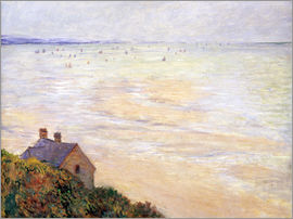 Claude Monet - Die Hütte in Trouville bei Ebbe